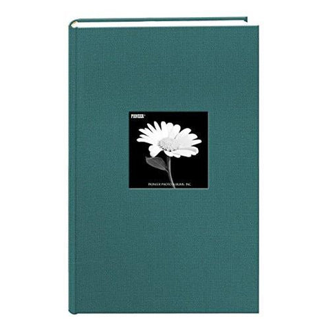 Image of Fabric Frame Cover Photo Album 300 Pockets Hold 4x6 Photos, Majestic Teal