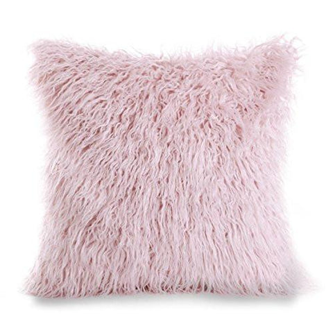 "Phantoscope Decorative New Luxury Series Merino Style White Fur Throw Pillow Case Cushion Cover 18"" x 18"" 45cm x 45cm"