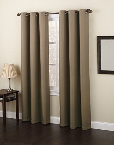 "No. 918 Montego Casual Textured Grommet Curtain Panel, 48"" x 84"""