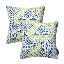 Load image into Gallery viewer, Phantoscope New Living Blue & Green Decorative Throw Pillow Case Set of 4 - zingydecor