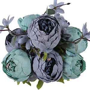 Luyue Vintage Artificial Peony Silk Flowers Bouquet - zingydecor