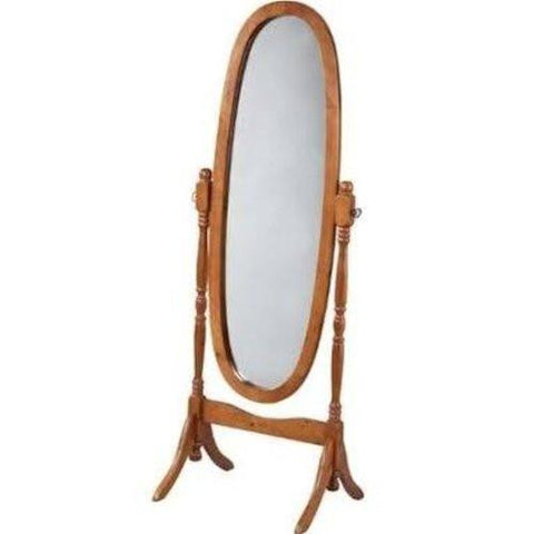 Swivel Full Length Wood Cheval Floor Mirror, White New
