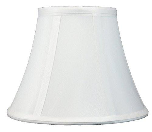 Urbanest Softback Bell Lampshade, Faux Silk, 5-inch by 9-inch by 7-inch, Spider-fitter