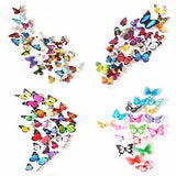 72 x PCS 3D Colorful Butterfly Wall Stickers DIY Art Decor Crafts For Nursery Classroom Offices Kids Bedroom Bathroom Living Room Magnets And Glue