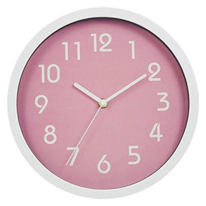 Binwo Modern Colorful Stylish Elegant Silent Non-ticking Home Kitchen/Living Room Wall Clock 10 Inches - zingydecor