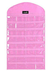 Misslo Jewelry Hanging Non-Woven Organizer Holder 32 Pockets 18 Hook and Loops - zingydecor