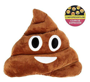 "11x12"" Poop Poo Emoji Emoticon Cushion Pillow Brown Stuffed USA Seller - zingydecor"