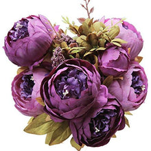 Load image into Gallery viewer, Luyue Vintage Artificial Peony Silk Flowers Bouquet - zingydecor