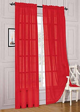 "Load image into Gallery viewer, WPM 2 Piece Beautiful Sheer Window Elegance Curtains/drape/panels/treatment 60""w X 84""l (White) - zingydecor"
