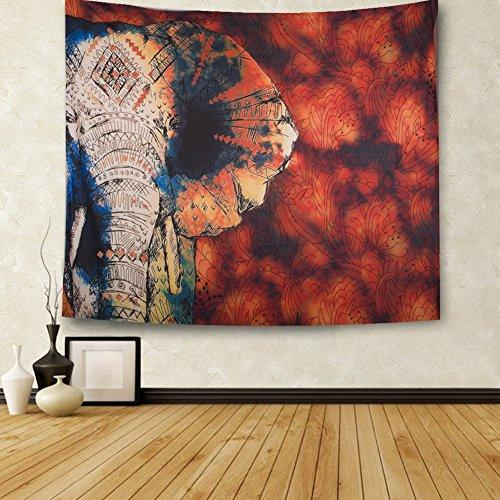CHICVITA Elephant Tapestry Wall Hanging Decor Indian Home Hippie Bohemian Tapestry for Dorms - zingydecor