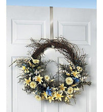 Load image into Gallery viewer, Spectrum Over The Door 1-Inch Satin Nickel Wreath Holder - zingydecor