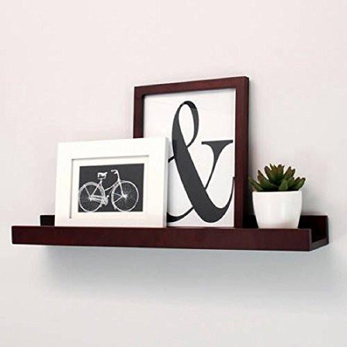Kiera Grace Edge Picture Frame Ledge, 23-Inch by 4-Inch, 8 lbs Weight Capacity, Espresso