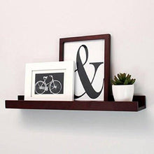 Load image into Gallery viewer, Kiera Grace Edge Picture Frame Ledge, 23-Inch by 4-Inch, 8 lbs Weight Capacity, Espresso