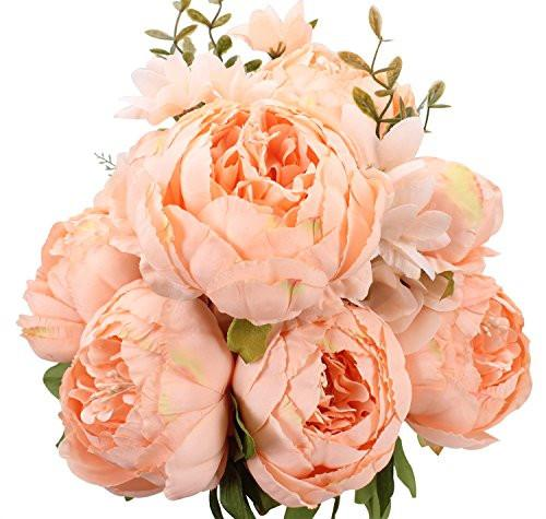 Springs Flowers Artificial Silk Peony bouquets Wedding Home Decoration, Pack of 1