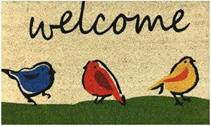 """Welcome"" Doormat by Castle Mats, Size 18 x 30 inches, Non-Slip, Durable, Made Using Odor-Free Natural Fibers - zingydecor"