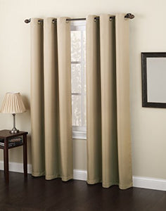 "No. 918 Montego Casual Textured Grommet Curtain Panel, 48"" x 84"" - zingydecor"