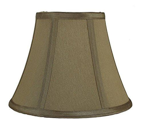 Image of Urbanest Softback Bell Lampshade, Faux Silk, 5-inch by 9-inch by 7-inch, Spider-fitter