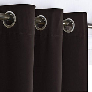 Nicetown Thermal Insulated Grommet Blackout Curtains for Bedroom (2 Panels, W42 x L63 -Inch) - zingydecor