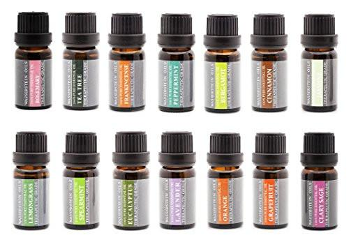 Aromatherapy Top 6 Oils 100% Pure Therapeutic Grade Basic Essential Oil Gift Set- 6x10 ML by Wasserstein (Lavender, Tea Tree, Eucalyptus, Lemongrass, Orange, Peppermint) - zingydecor