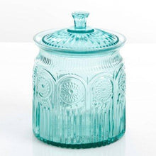 Load image into Gallery viewer, The Pioneer Woman Adeline Glass Cookie Jar - Turquoise - zingydecor
