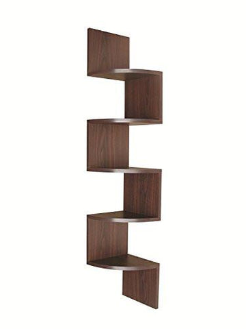 Image of EWEI'S HomeWares 5 Tier Large Corner Wall Mount Shelf, Black