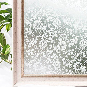 Window Film 3D Static Decorative Privacy Self-adhesive For UV Blocking Glass Sticker, 35.4x78.7 Inches - zingydecor