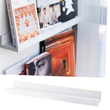Load image into Gallery viewer, Denver Modern Floating Wall Ledge Shelf for Pictures and Frames 22 Inches Long , White - zingydecor