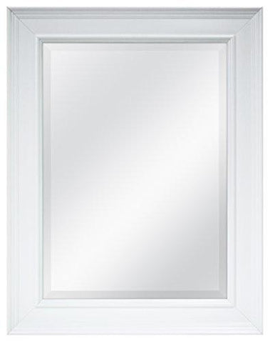 Image of MCS 20450 15.5 by 21.5-Inch Beveled Mirror with 21.5 by 27.5-Inch Frame, White