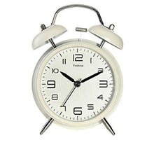 "Load image into Gallery viewer, Peakeep 4"" Twin Bell Alarm Clock with Stereoscopic Dial, Backlight, Battery Operated Loud Alarm Clock"