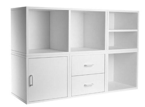 Foremost 340001 Modular 5-in-1 Shelf Cube Storage System - zingydecor