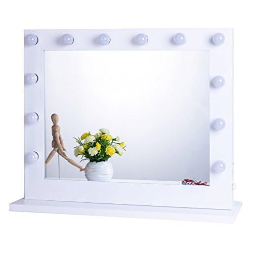 Chende White Hollywood Lighted Makeup Vanity Mirror Light