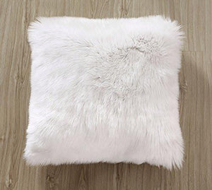 OJIA Deluxe Home Decorative Super Soft Plush Mongolian Faux Fur Throw Pillow Cover Cushion Case (18 x 18 Inch) - zingydecor