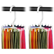 Load image into Gallery viewer, 2 Pack IPOW Updated Twirl Tie Rack Belt Hanger Holder Hook for Closet Organizer Storage - zingydecor