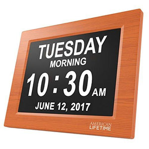 [Newest Version] Day Clock - Extra Large Impaired Vision Digital Clock with Battery Backup & 5 Alarm Options - zingydecor