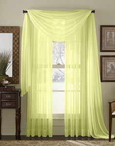 "HLC.ME 54"" inch x 84"" inch Window Curtain Sheer Panels, Set of 2 - zingydecor"