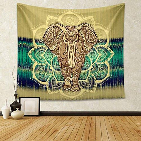 Image of CHICVITA Elephant Tapestry Wall Hanging Decor Indian Home Hippie Bohemian Tapestry for Dorms - zingydecor