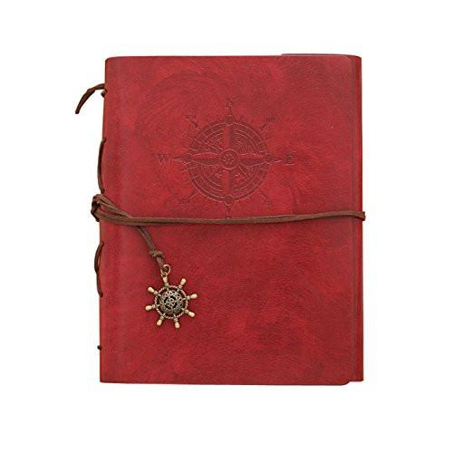 Zoview Adhesive Scrapbook Photo Album Memory Book , 60 Pages Hand Made DIY Albums ,Dark Red