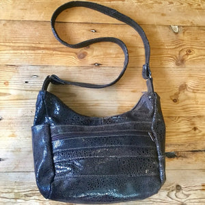 Brown Leather Shoulder or Cross Body Bag