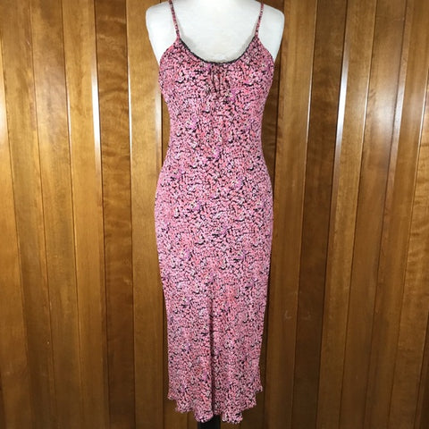Eye a Candy Pink & Black Floral Sleeveless Dress Size L