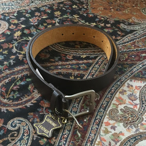 Brown Leather Belt with a Silver Buckle