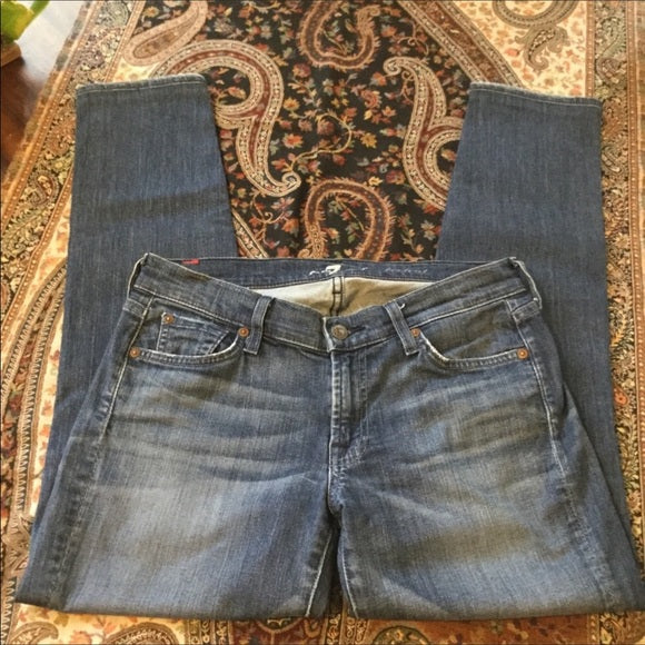 7 For All Mankind Boyfriend Cut or Crop Jeans Size 29