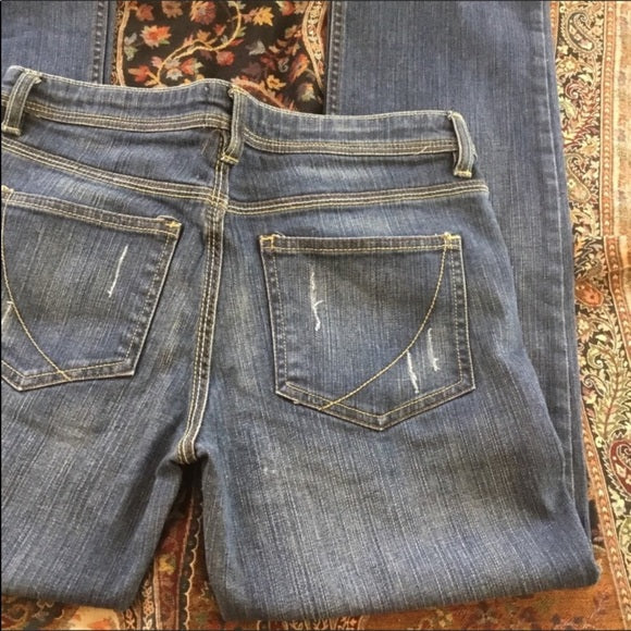 Paper Denim & Cloth Distressed Straight Leg Jeans Size 10