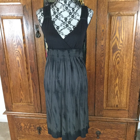 Calvin Klein Black Tie Dye Print Sleeveless Tank Dress Size S