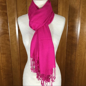 Hot Pink Wrap Scarf