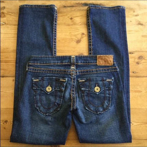 True Religion Billy T Straight Leg Jeans Size 25