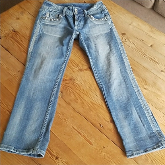 Miss Me Modelo Distressed Crop Jeans Size 26