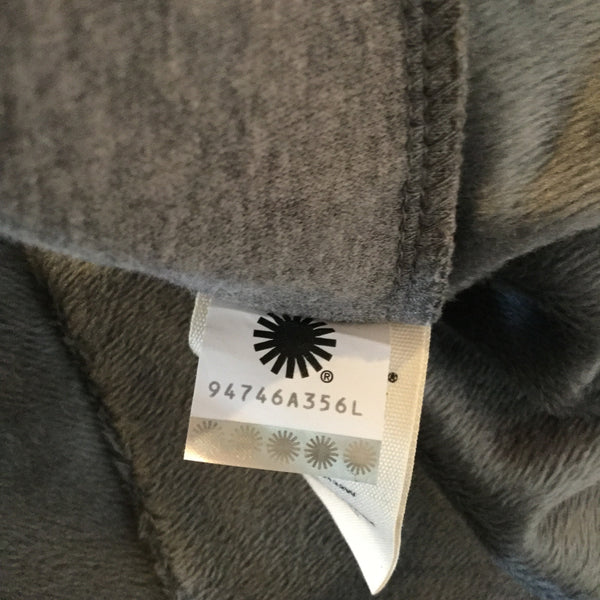 Ugg Gray Cotton Blend Cowl Neck Cape Size M/L