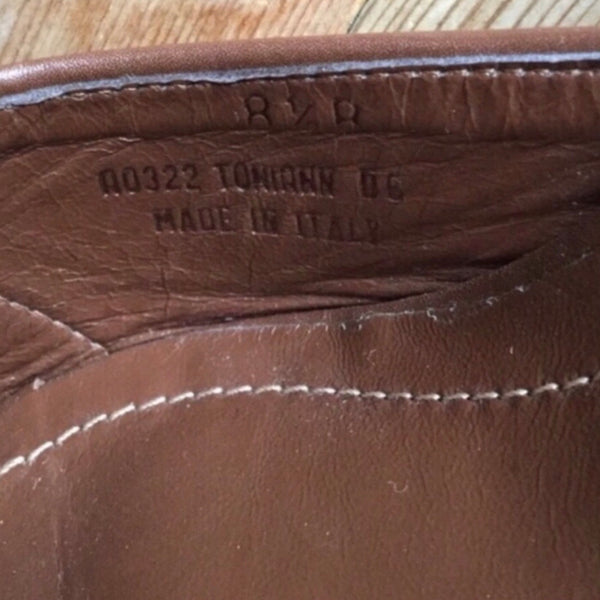 Coach Brown & Tan Toniann Leather & Canvas Logo Open Toe Mules Size 8.5