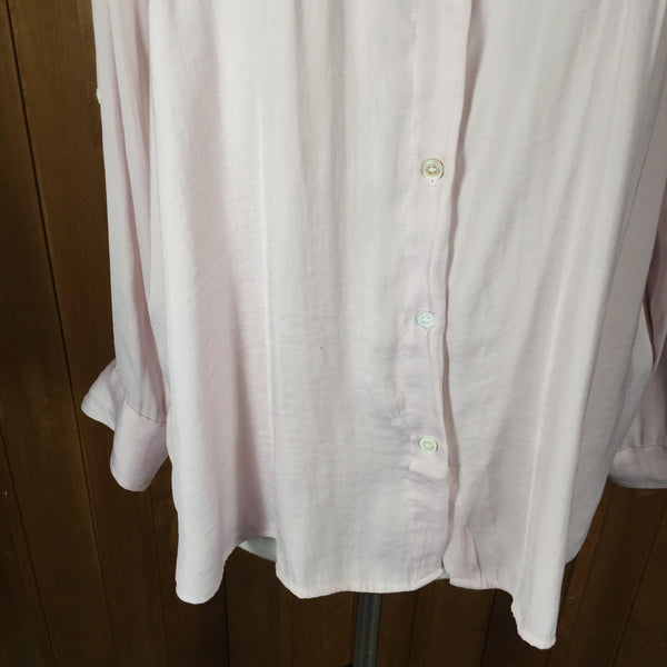 Vince Camuto Pale Pink Long Sleeve Button Down Blouse