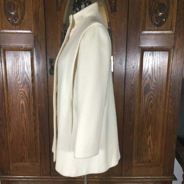 Freddi-Gail Vintage Cream or Winter White Wool Blend Coat